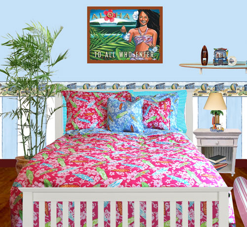 Surfer Girl Bedding