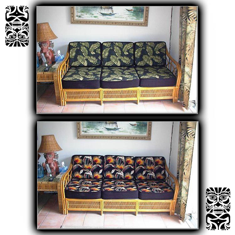 Rattan Hawaiian Couch