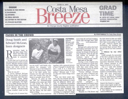 Costa Mesa Breeze Article