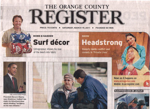 Front Page OC Register