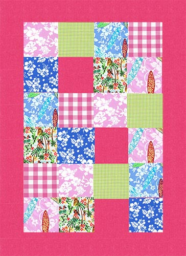 Girls Hawaiian Quilt
