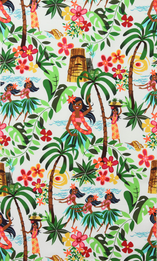 Hula Girl Bedding