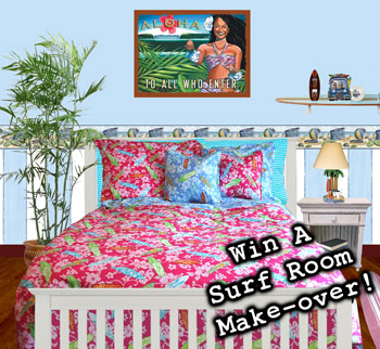 Girls Surf Bedding