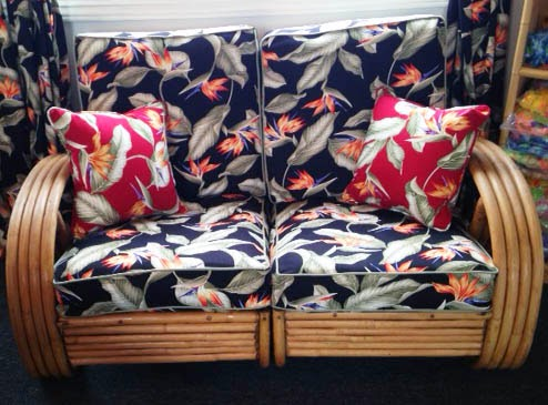 Vintage Hawaiian Fabric Couch Cover